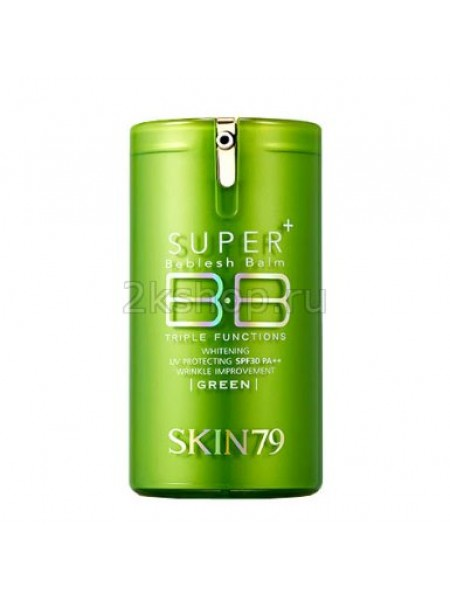 ББ крем для жирной кожи Skin79 Super plus beblesh balm triple functions green spf30 pa++