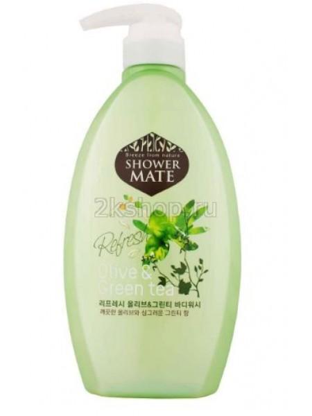 KeraSys Shower Mate Body Cleanser Olive & Green Tea Гель для душа Олива и зеленый чай