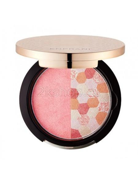 "ENPRANI Delicate Radiance Multi Duo 01 Pink Blending  Запеченые румяна-хайлайтер ""Деликатное сияние"""