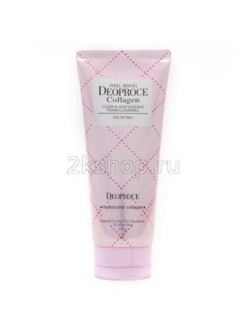 Deoproce Well-being collagen clean & deep essence foam cleansing  Пенка для умывания коллаген
