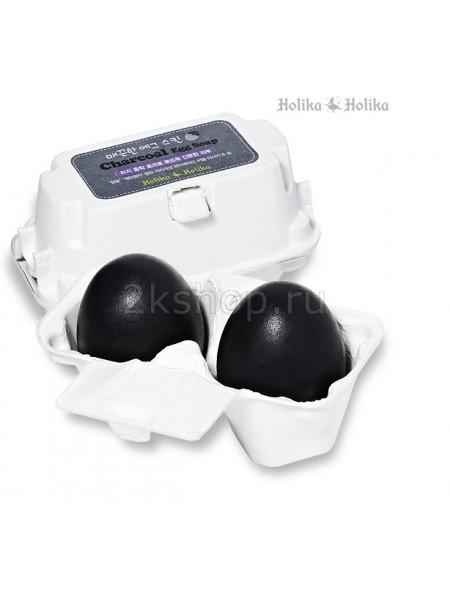 Holika Holika Charcoal Egg Soap(50G*2) Мыло-маска ручной работы с древесным углем (50g*2)