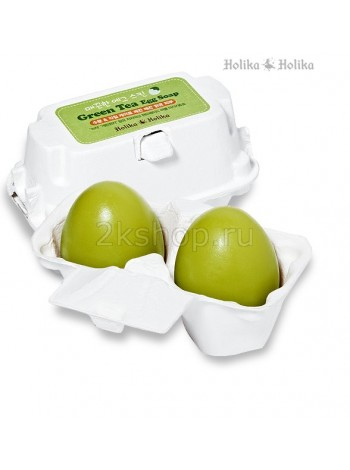 Holika Holika Green Tea Egg Soap(50G*2) Мыло-маска ручной работы с зеленым чаем(50g*2)