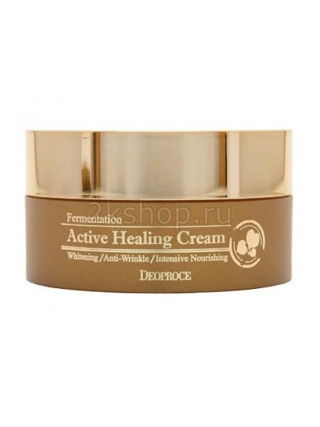 Deoproce Fermentation Active healing cream Крем для лица питательный кислородный