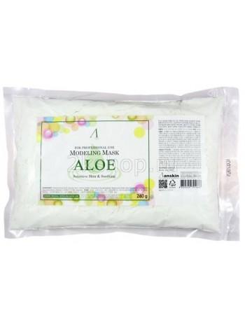 Anskin Aloe Modeling Mask(240g)  Маска альгинатная с экстрактом алоэ успокаивающая
