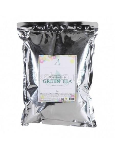 Anskin Grean Tea Modeling (Size)  Маска альгинатная с зеленым чаем успокаивающая