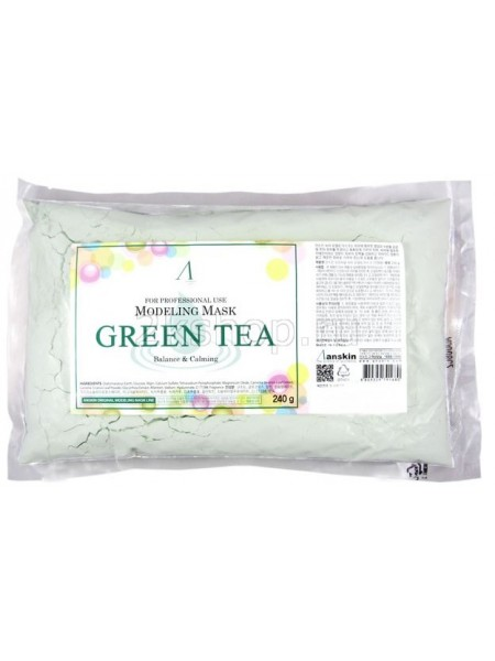 Альгинатная маска с зеленым чаем Anskin Grean Tea Modeling Mask(240g)