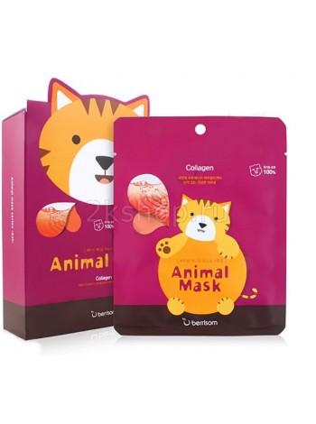 Тканевая маска с коллагеном  Кошка Berrisom  Animal mask series - Cat