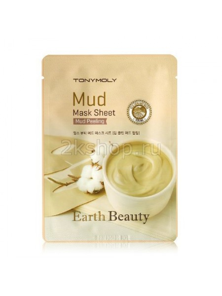 Tony Moly EARTH BEAUTY MUD MASK SHEET Маска для лица глиняная