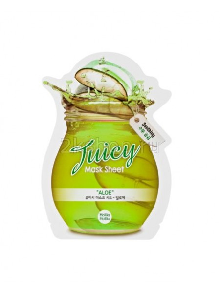 Holika Holika Juicy Mask Sheet Aloe Тканевая маска для лица Сок Алоэ