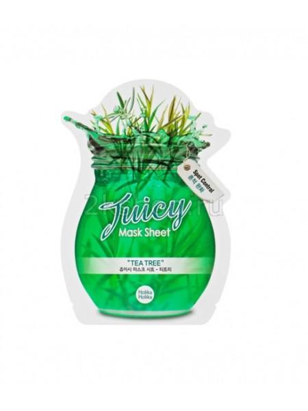 "Holika Holika Juicy Mask Sheet Tea tree Тканевая маска для лица ""Джуси Маск"" Сок чайного дерева"