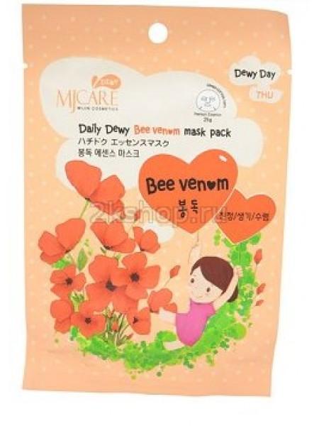 Mijin MJ Care Daily Dewy Bee Venom Mask Pack Маска тканевая с пчелиным ядом