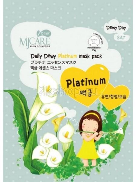Mijin MJ Care Daily Dewy Platinum Mask Pack  Маска тканевая с платиной