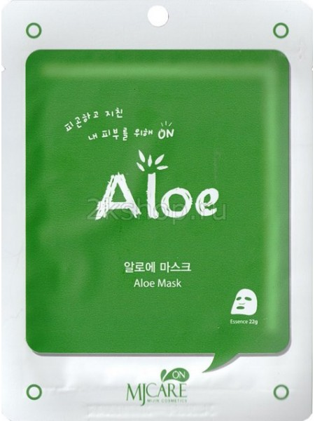 Тканевая маска для лица с алоэ Mijin  Aloe mask pack