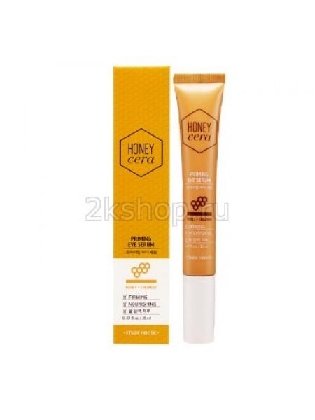Сыворотка для глаз с экстрактом меда Etude house Honey Cera Priming Eye Serum Cera