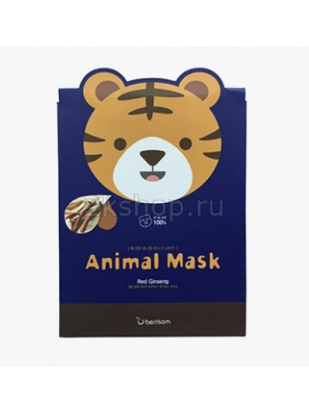 Тканевая маска с женьшенем Berrisom Animal mask series - Tiger Т
