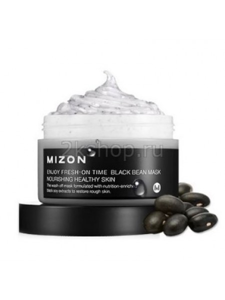 Mizon Enjoy Fresh On-time Black Bean mask Маска для лица