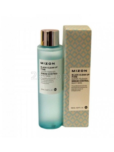 Mizon black clean up pore water finisher  Тоник очищающий