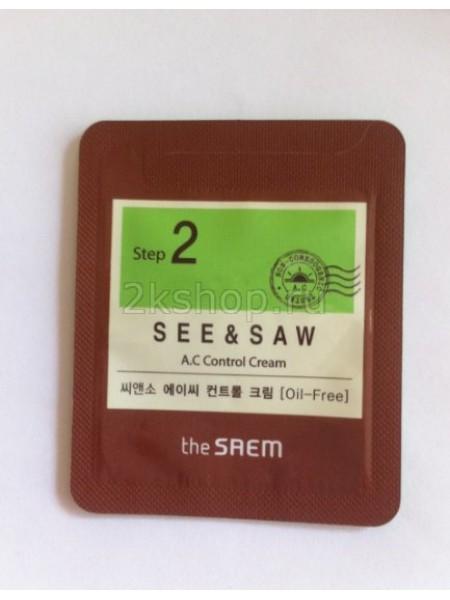 The Saem See & Saw A.C Control Cream [Sample]  Крем для контроля чистоты и жирности кожи пробник