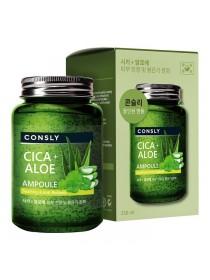 Ампульная сыворотка с центеллой и алоэ вера CONSLY Cica & Aloe All-in-One Ampoule