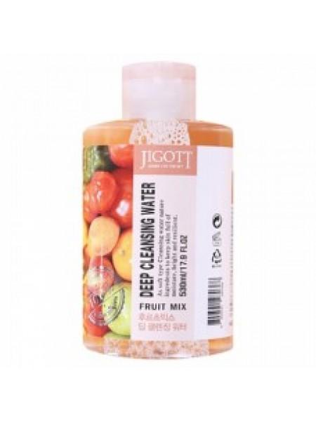 Мицеллярная вода с экстрактами фруктов Jigott Deep Cleansing Water Fruit Mix 500 мл