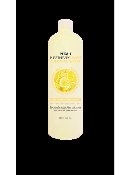Мицеллярная вода с экстрактом лимона Pekah Pure Therapy Lemon Cleansing Water 500 ml