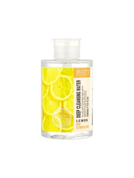 Очищающая вода с лимоном Jigott Deep Cleansing Water Lemon 530 мл