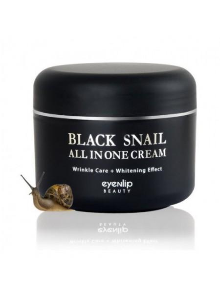 Многофункциональный крем с муцином черной улитки EYENLIP Black Snail All In One Cream 100мл