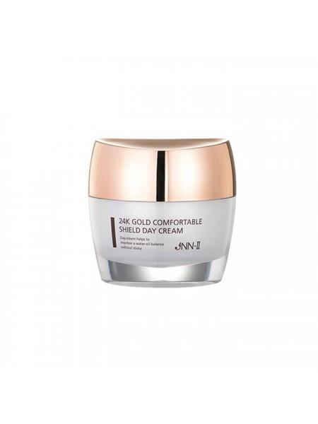 Дневной защитный крем с 24K золотом JNN-II 24K Gold Comfortable Shield Day Cream 50g