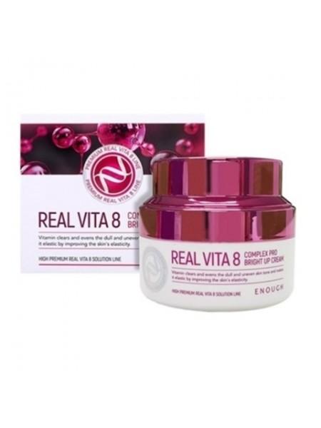 Крем с витаминами для сияния кожи ENOUGH Real Vita 8 Complex Pro Bright Up Cream