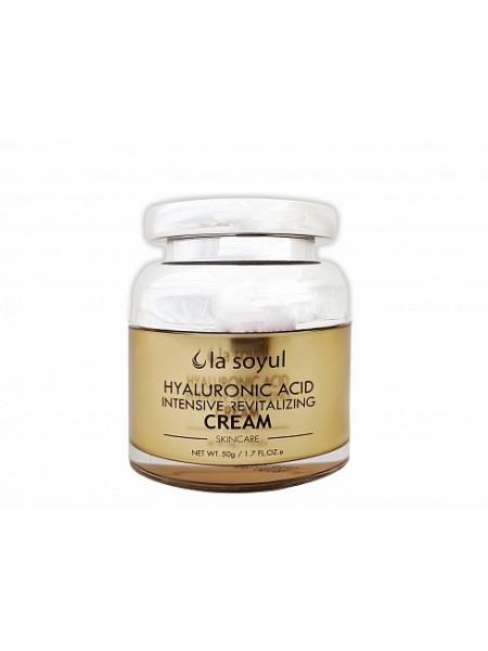 Крем с гиалуроновой кислотой для интенсивного восстановления кожи LA SOYUL Hyaluronic Acid Intensive Revitalizing Cream 50г