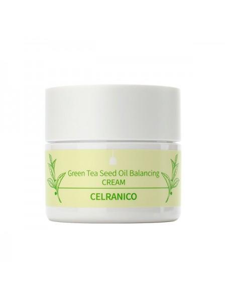 Антиоксидантный крем с зелёным чаем CELRANICO Green Tea Seed Oil Balancing Cream 50ml