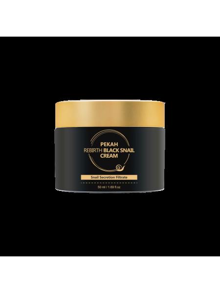 Антивозрастной крем с пептидами и муцином черной улитки Pekah Rebirth Black Snail Cream
