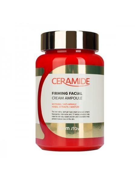Восстанавливающий ампульный крем с керамидами  FarmStay Ceramide Firming Facial Cream Ampoule