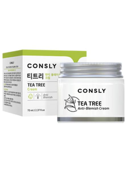 Крем для проблемной кожи с экстрактом чайного дерева Consly Tea Tree Anti-Blemish Cream, 70ml