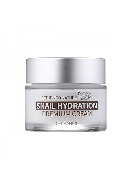Укрепляющий крем с муцином улитки CELRANICO Return To Nature Snail Hydration Premium Cream 50ml