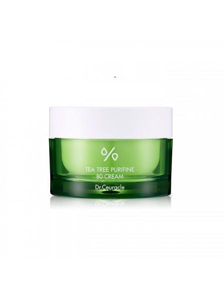 Крем с экстрактом и маслом чайного дерева для проблемной кожи DR.CEURACLE Tea Tree Purifine 80 Cream