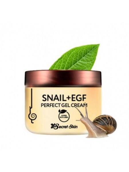 Крем-гель для лица с муцином улитки и EGF SECRET SKIN Snail+EGF Perfect Gel Cream