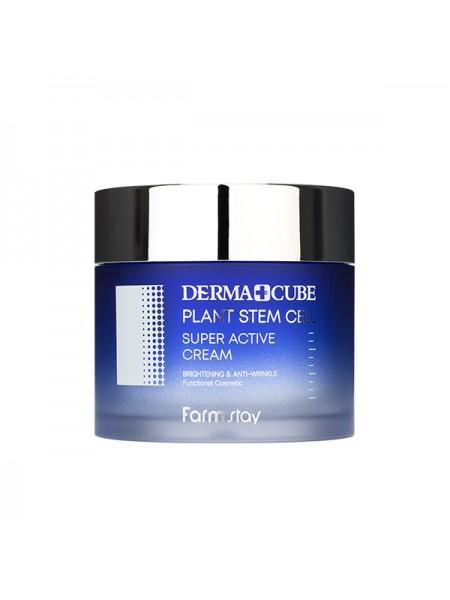 Укрепляющий крем со стволовыми клетками FarmStay DERMA CUBE Plant Stem Cell Super Active Cream