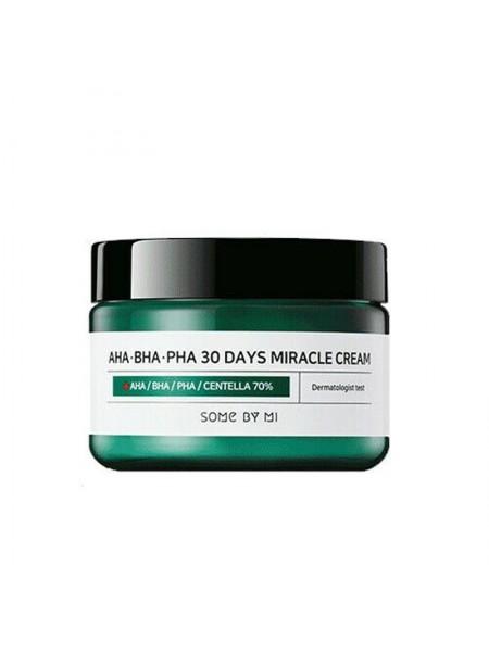 Крем с 3 видами кислот и центеллой азиатской SOME BY MI AHA-BHA-PHA 30 Days Miracle Cream