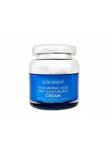 Увлажняющий крем с гиалуроновой кислотой La Soyul Hyaluronic acid Deep Moisturizing Cream , 50г