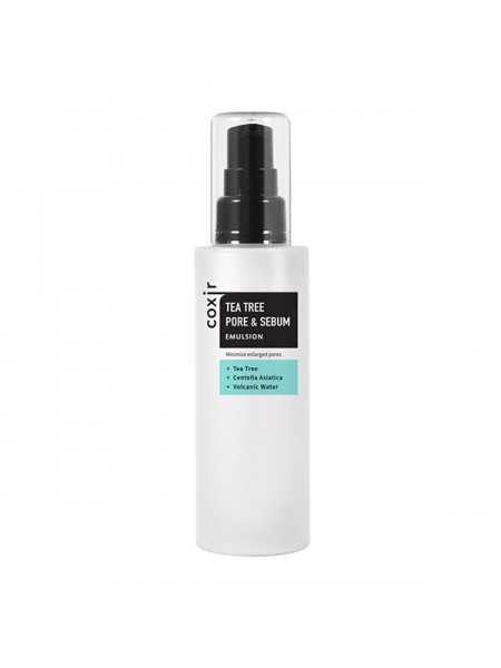 Освежающая эмульсия для проблемной кожи Coxir Tea Tree Pore & Sebum Emulsion