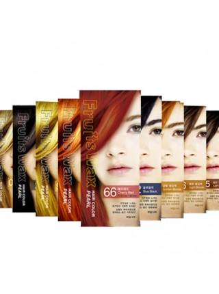 Welcos  Fruits Wax Краска для волос на фруктовой основе Fruits Wax Pearl Hair Color #06 60мл*60гр