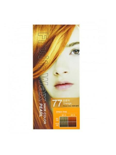 Welcos Fruits Wax Краска для волос на фруктовой основе Fruits Wax Pearl Hair Color  #77 60мл*60гр