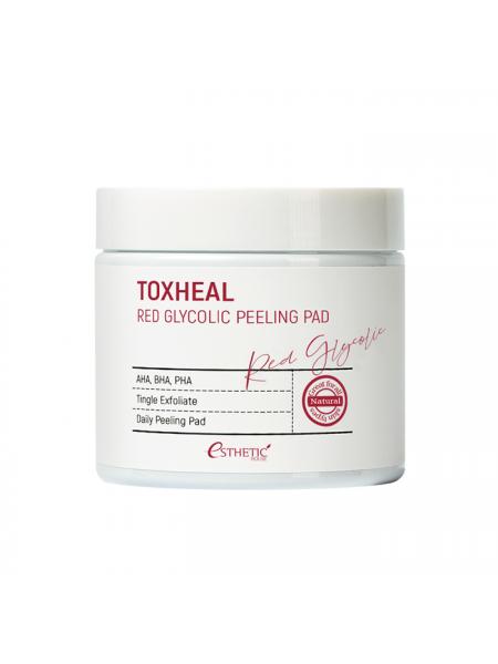 Пилинг-подушечки с гликолевой кислотой ESTHETIC HOUSE Toxheal Red Glycolic Peeling Pad, 100шт