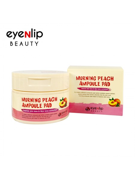Пады пропитанные эссенцией Eyenlip Morning  Lemon Ampoule Pad 120ml (100 pcs)