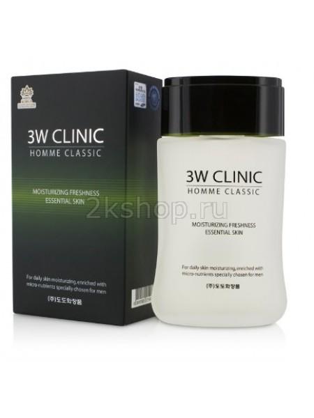 3W Clinic Homme Classic Moisturizing Freshness Essential Skin Увлажняющий тоник для мужчин