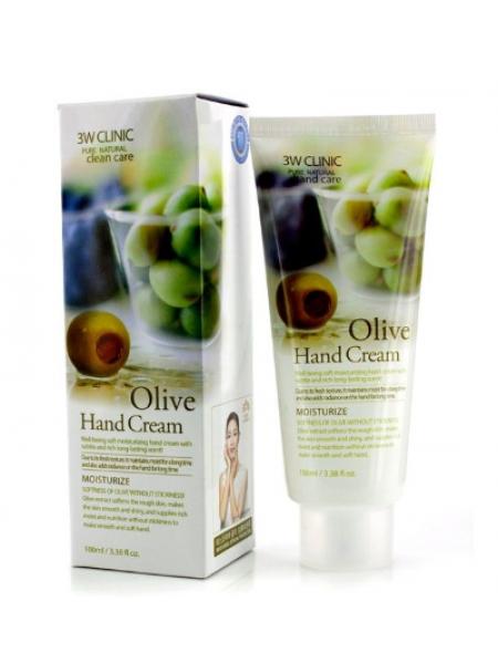 Питательный крем для рук с экстрактом оливы 3W Clinic Moisturizing Hand Cream Olive