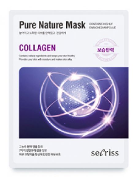 Anskin Secriss Pure Nature Mask Pack- Collagen Тканевая маска для лица с коллагеном