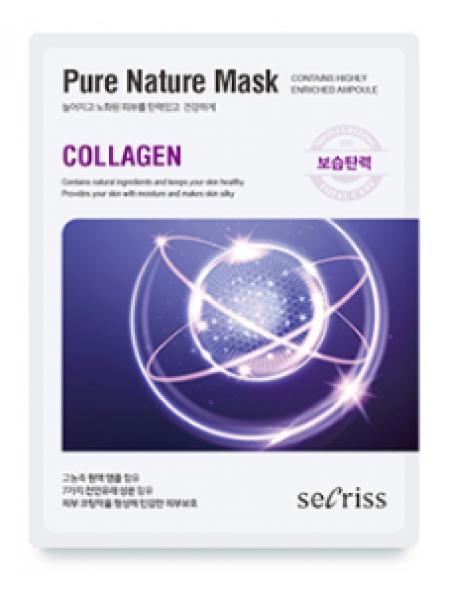 Anskin Secriss Pure Nature Mask Pack- Collagen Тканевая маска для лица с коллагеном