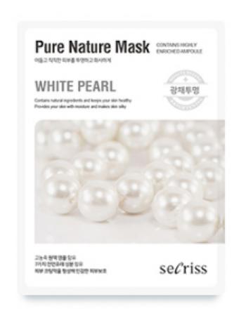 Anskin Secriss Pure Nature Mask Pack- Pearl  Осветляющая тканевая маска для лица с жемчугом